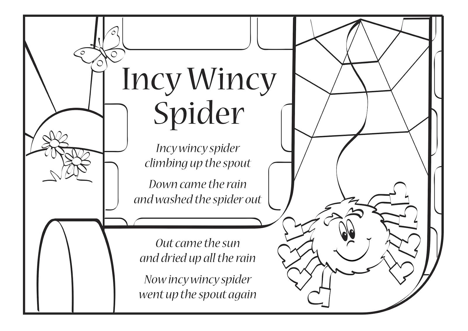 Itsy Bitsy Spider Also Known As Incy Wincy Spider Is