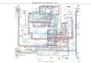 OPEL GT 1900 DIAGRAM CHASIS ELETRICAL AND INSTRUMENT PANEL