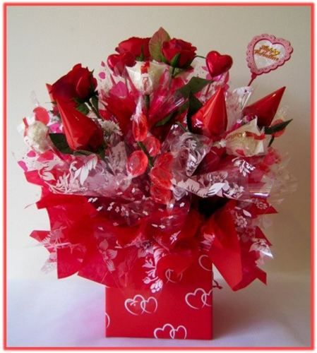 HAPPY VALENTINES DAY Candy Bouquet Our Combination Of