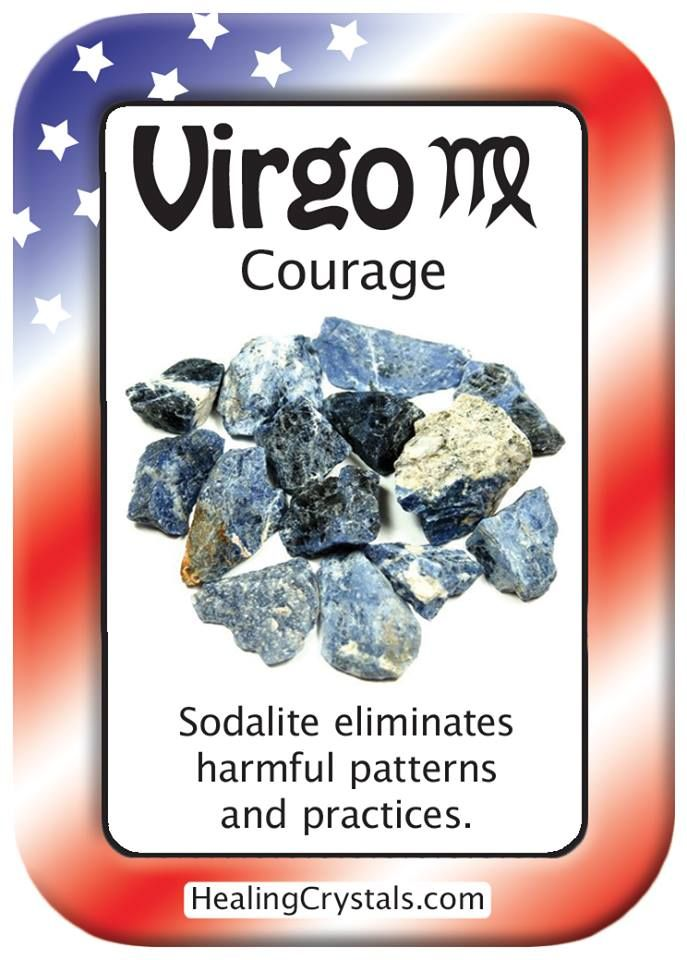 VIRGO COURAGE Use Sodalite To Eliminate Harmful Patterns