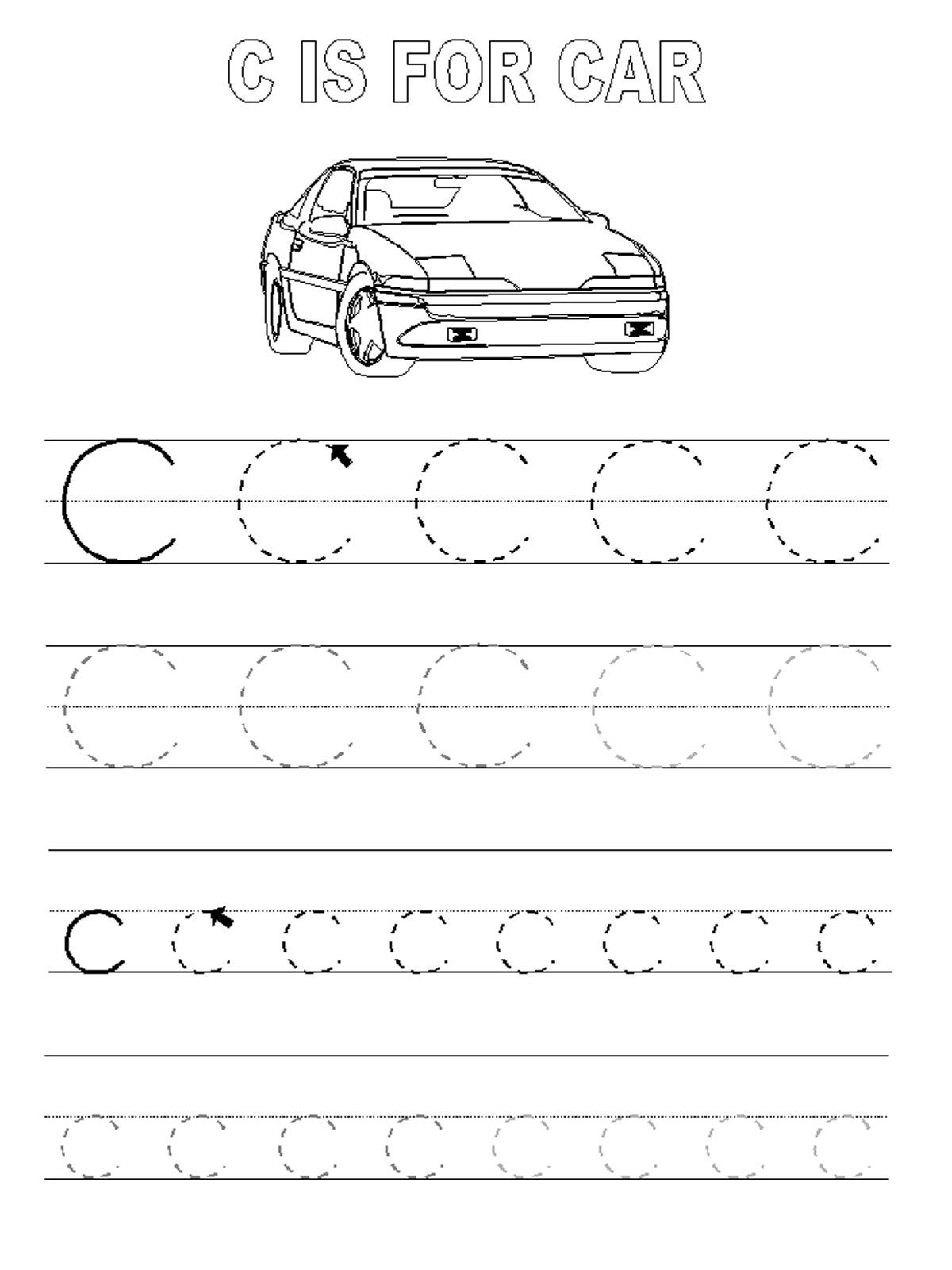 Trace The Letters Car