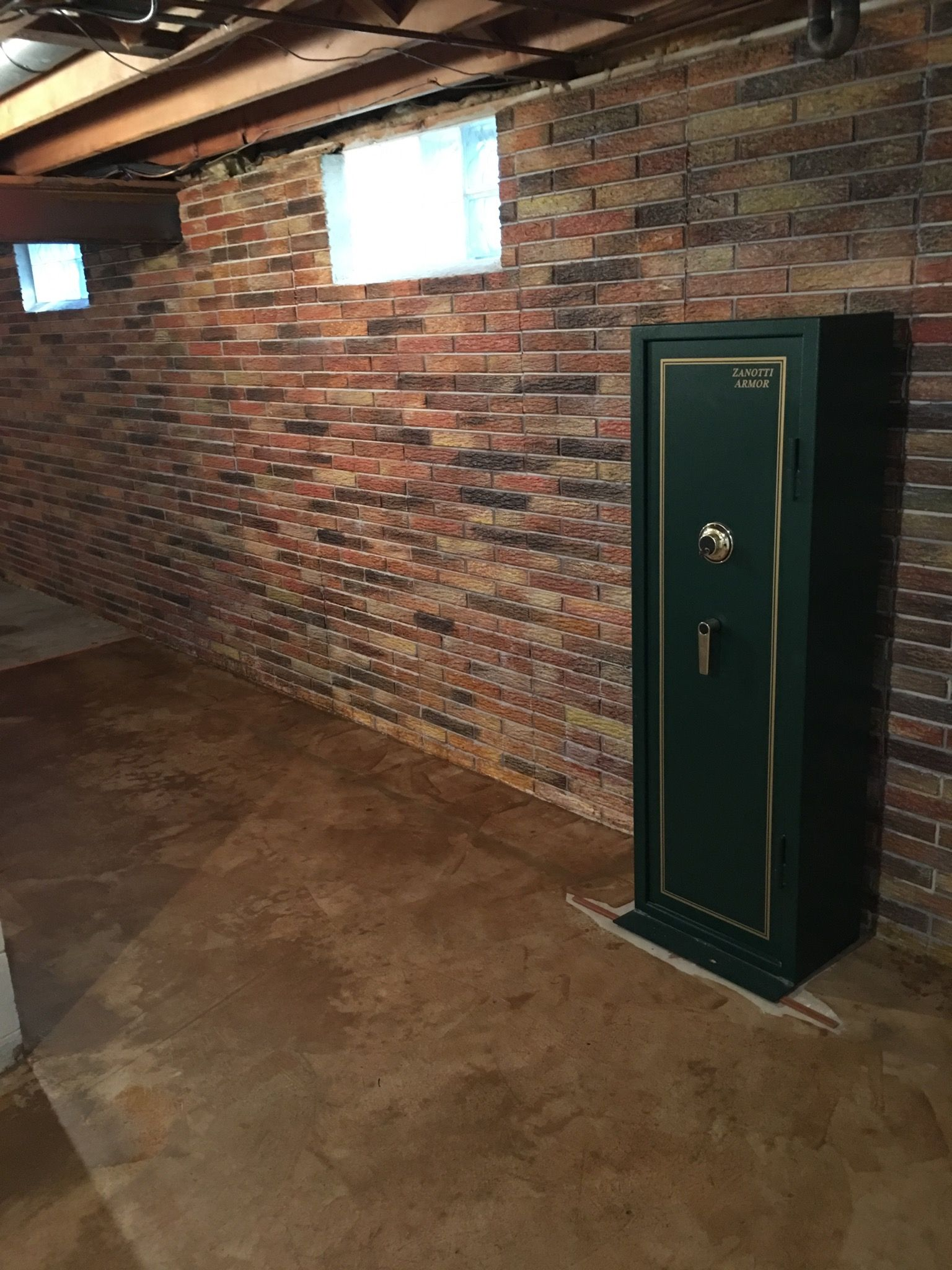 this basement wall is a poured concrete with a brick on concrete basement wall paint colors id=54301