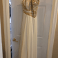 Terani prom dress gold sequin top chiffon fabric and sequin top