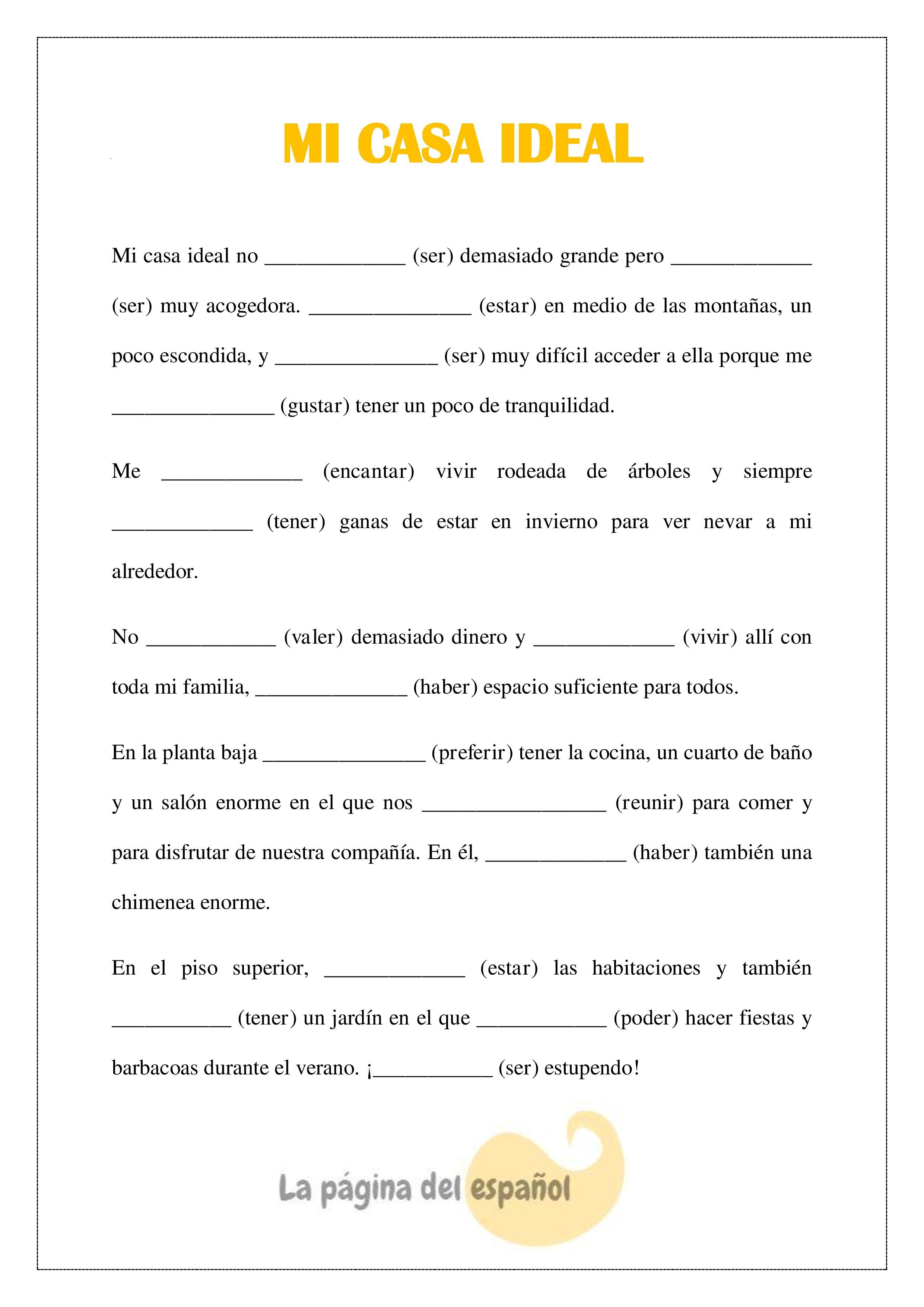 An Activity To Practice Conditional Tense