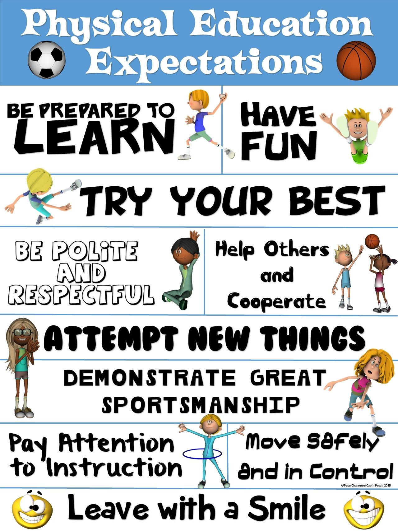 Pe Poster Physical Education Expectations