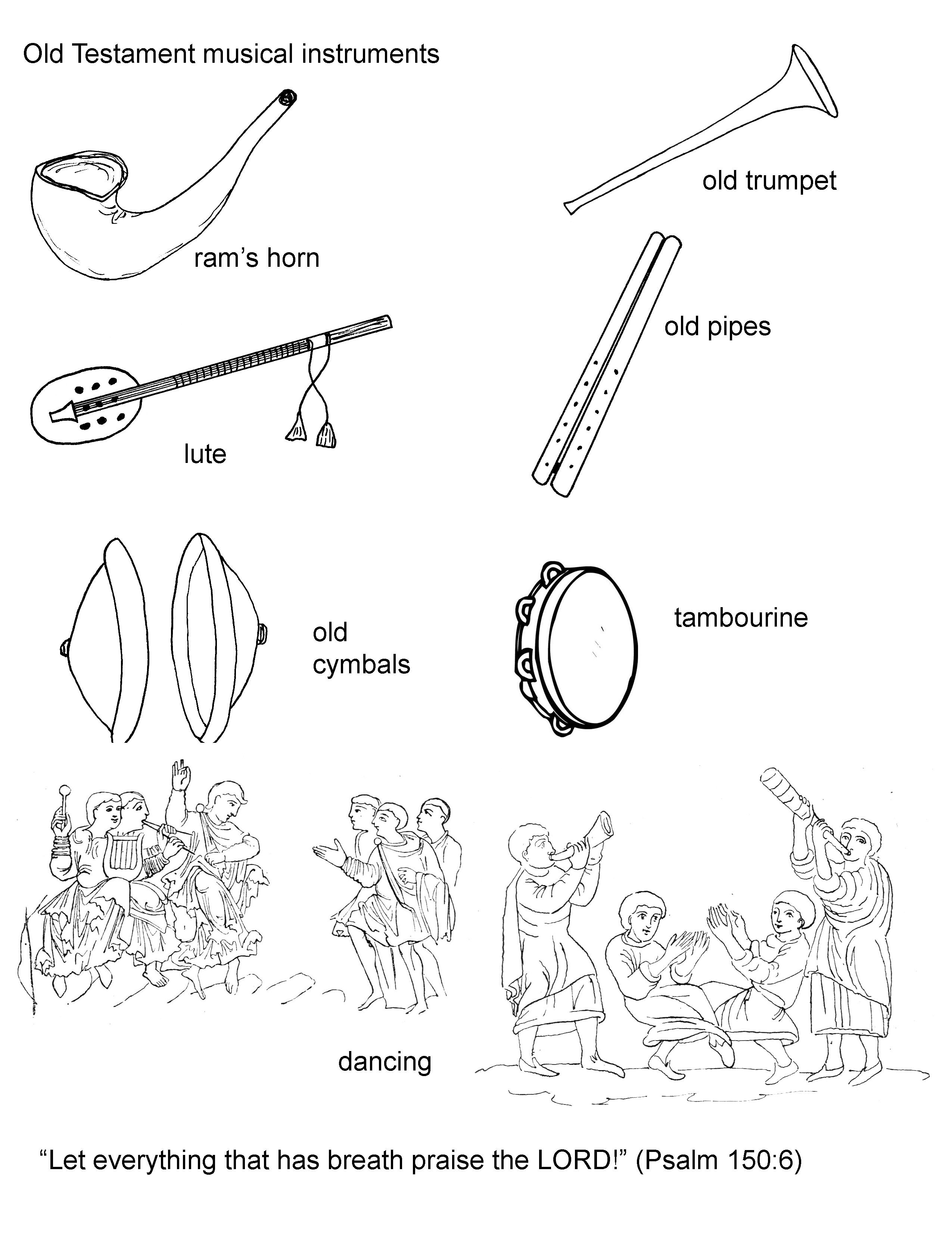 King David Danced Before The Lord Coloring Page