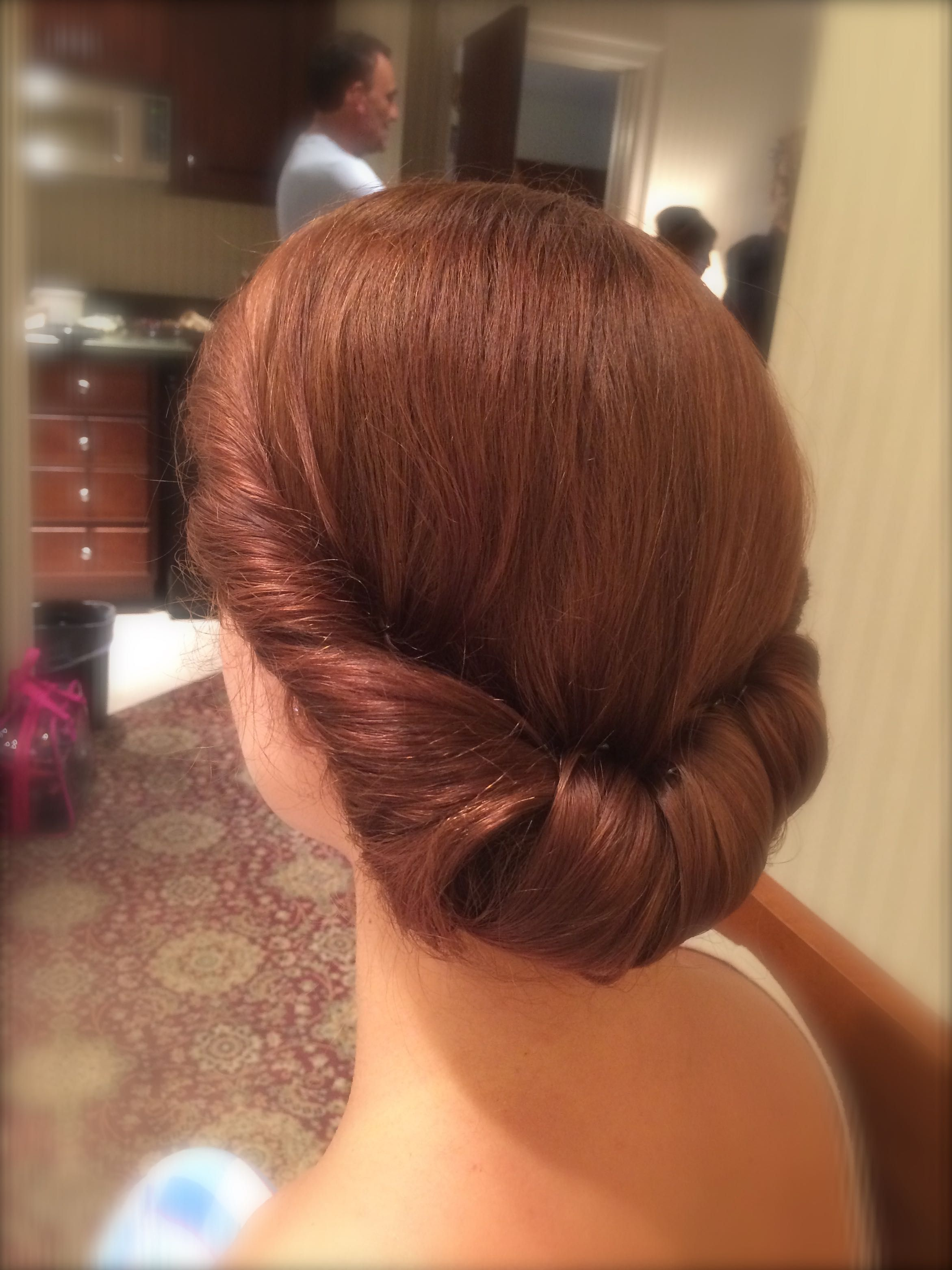 Wedding Bridal Updo Vintage Retro Chignon