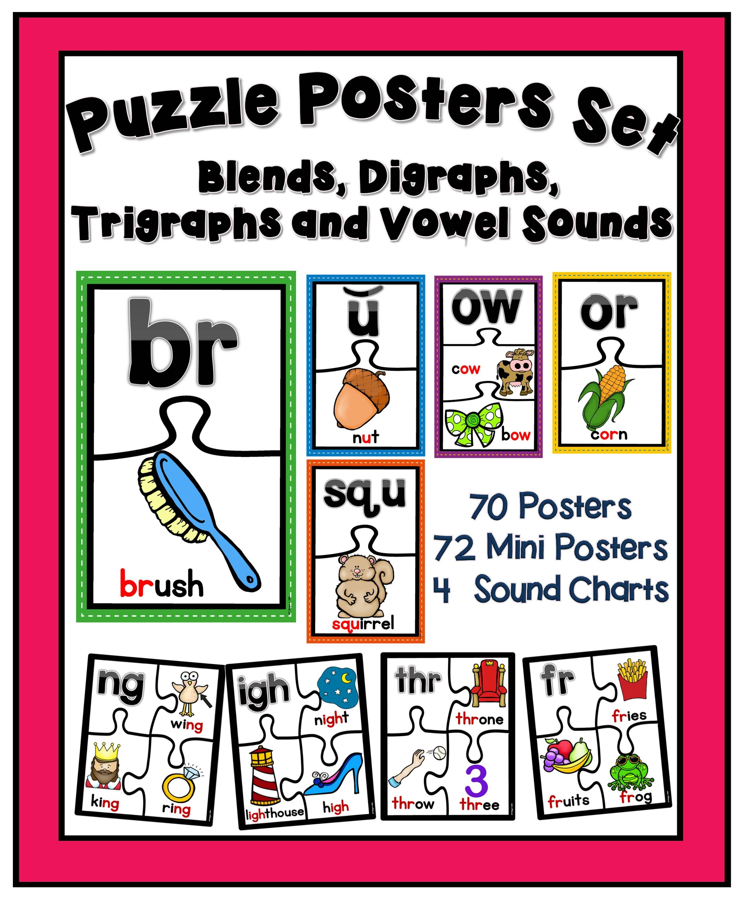 In This Sounds Puzzle Posters Set You Will Find 70 Sounds Puzzles Posters That Feature The Sound