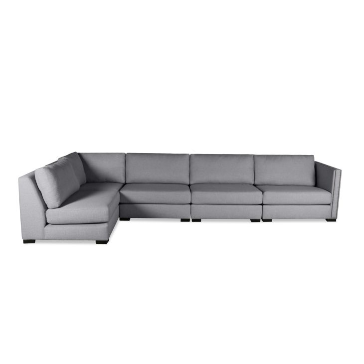 South Cone Home Astoria Modular Left LShape Sectional Grey Wood