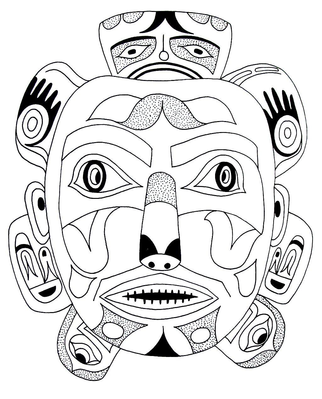 North American Indian Design Coloring Book