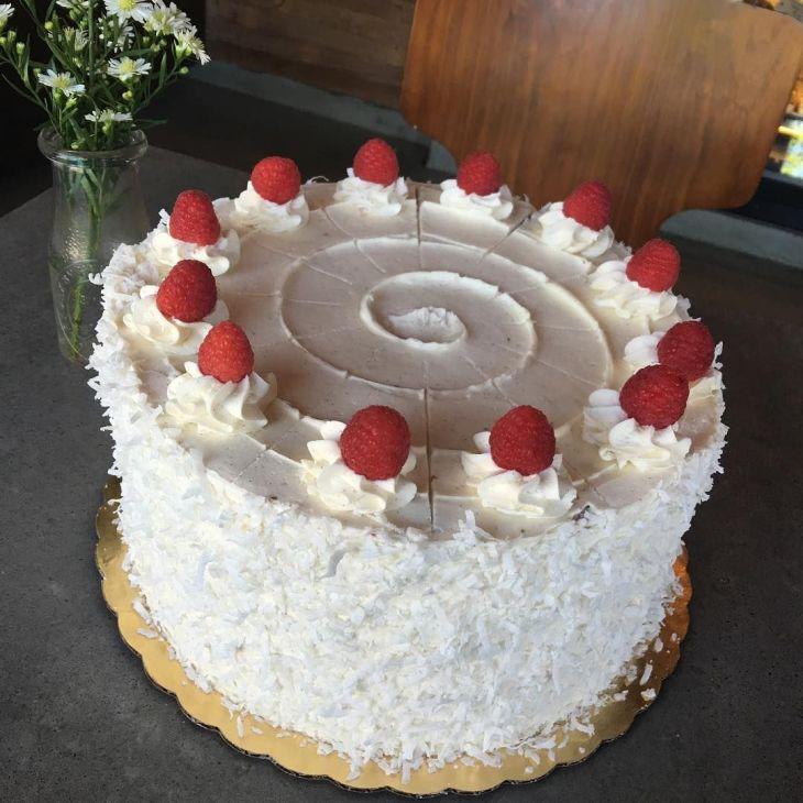 Fresh Cream Wedding Cake Designs Coconut Cake With Raspberry Filling