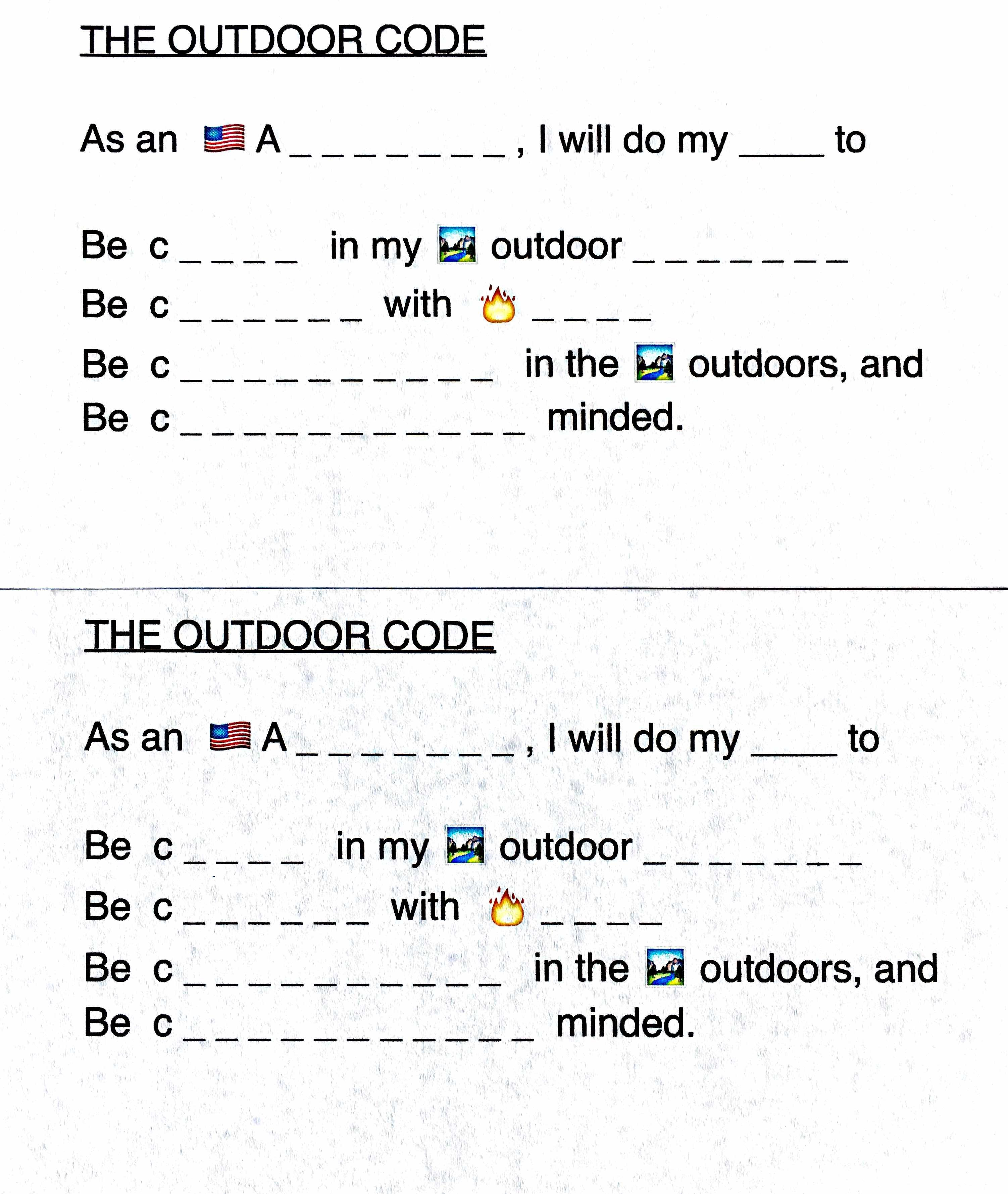 Cub Scout Outdoor Code