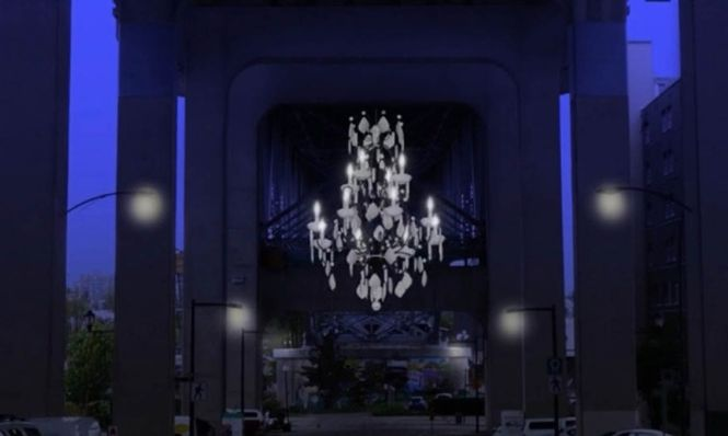 Vancouver Lights Up A Dark Highway Overpass With Massive Chandelier