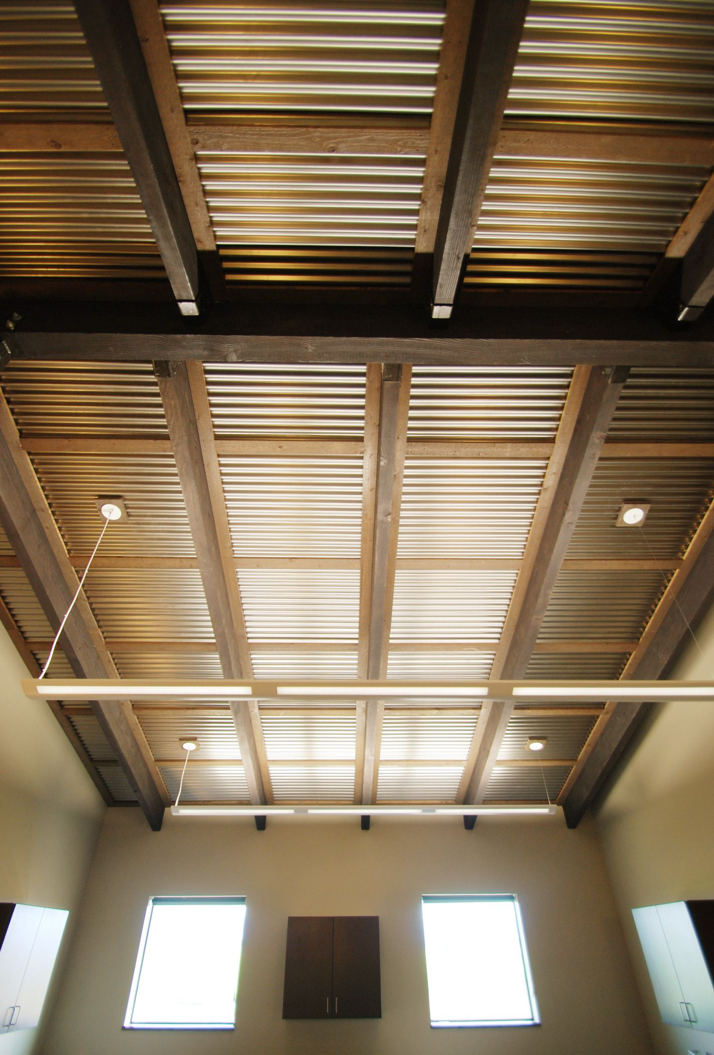 Corrugated Ceiling In Office