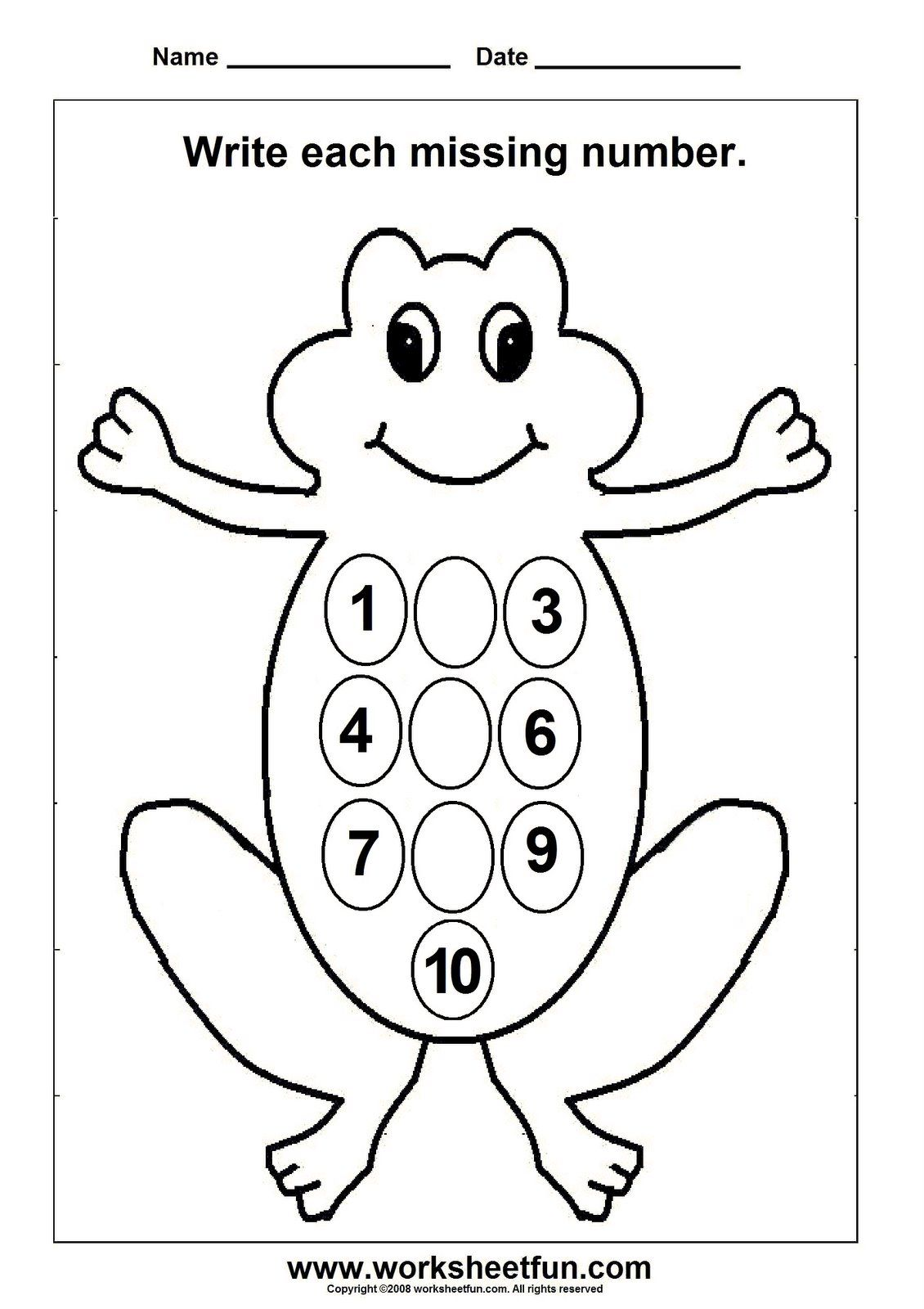 Kindergarten Numbers Worksheets
