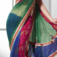 Net saree images green faux chiffon and net saree with blouse    best