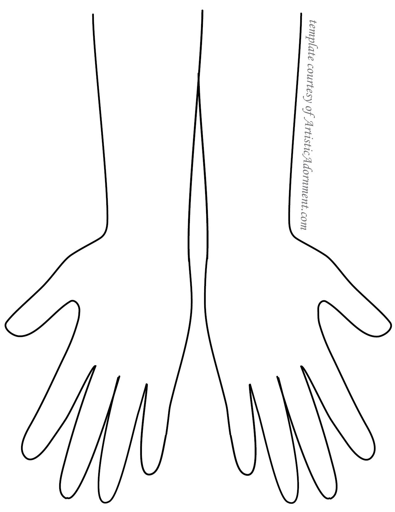 Henna Hand Template From Artisticadornment
