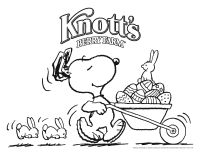 Snoopy Easter Coloring Pages