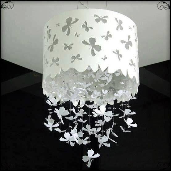Diy Beautiful Erfly Paper Chandelier Mobile Hanger Decoration Chandeier Crafts