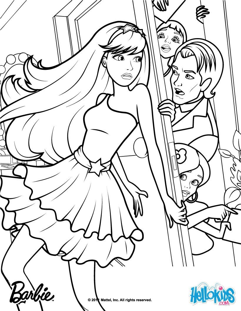 Keira And Seymour Crider Barbie Coloring Page More Barbie The