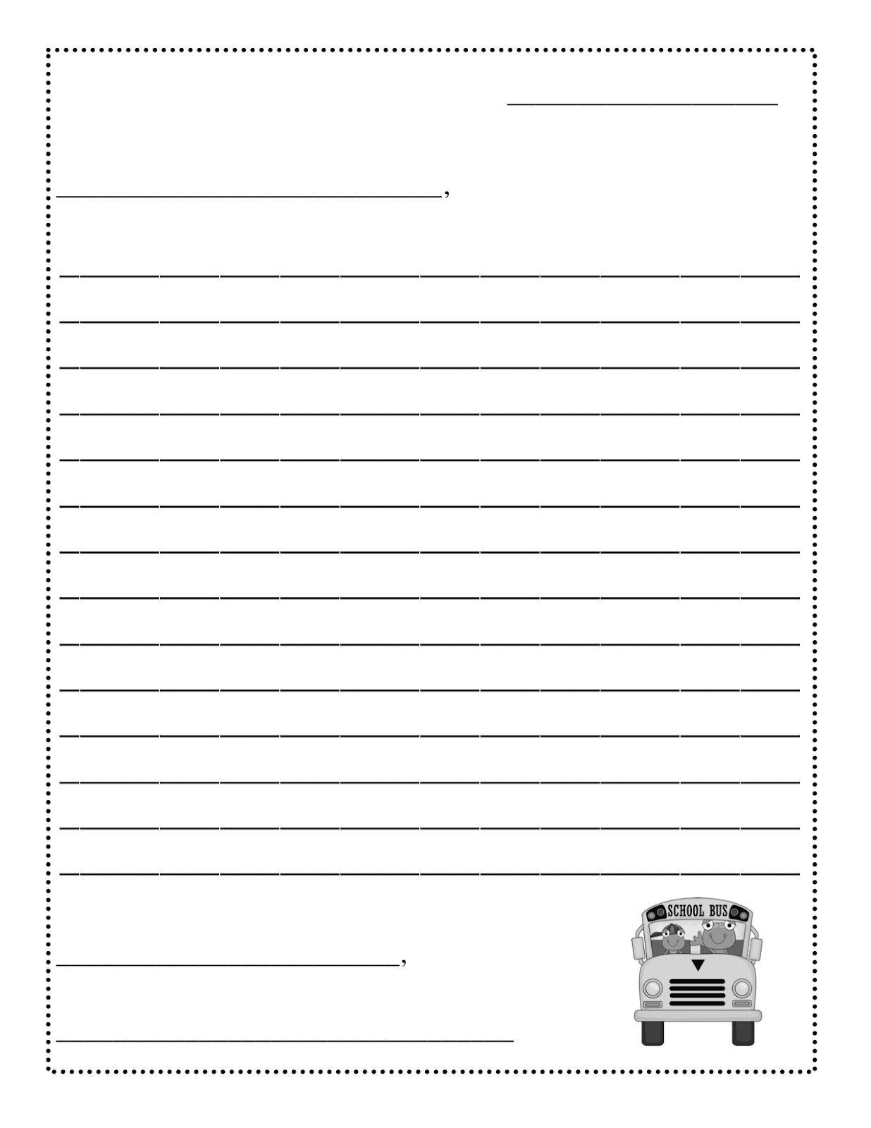 Friendly Letter Templateletter Writing Template Formal Letter Sample