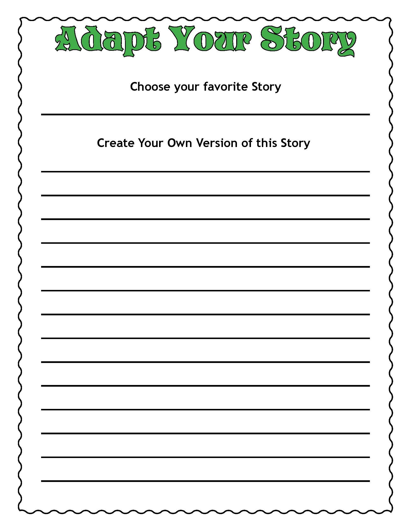 Make Your Own Matching Worksheet