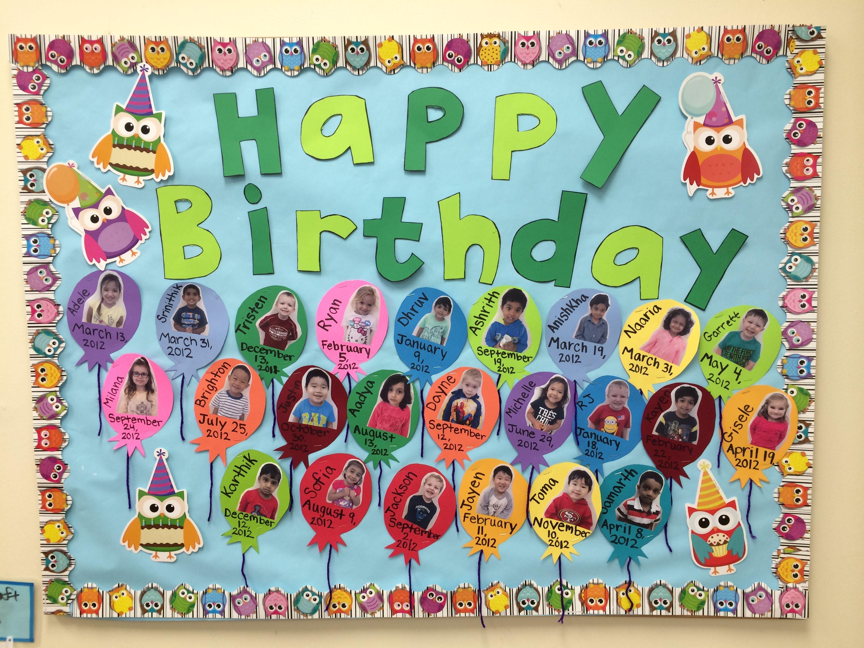 Preschool Birthday Board The Children Love Seeing