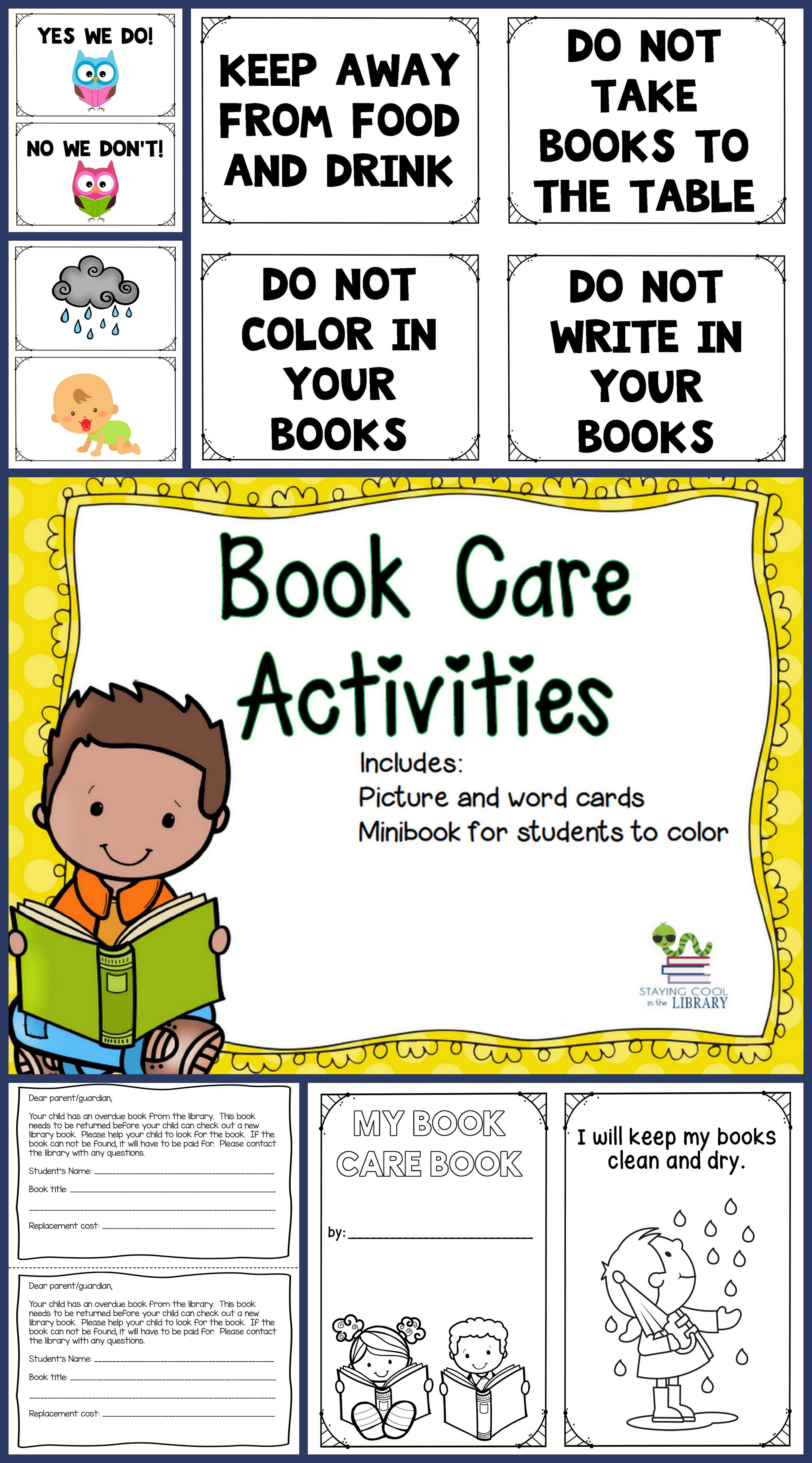 Book Care Activities