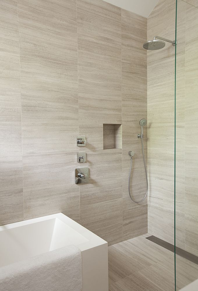 BATHROOM Limestone Tile Stonetile Wetstyle Cube 04 Bathtub Hansgrohe Axor
