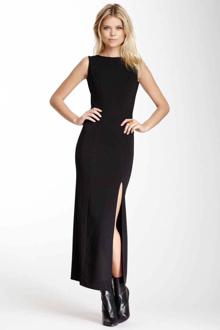 Necessary Objects Back Cutout Sleeveless Dress Look Pinterest