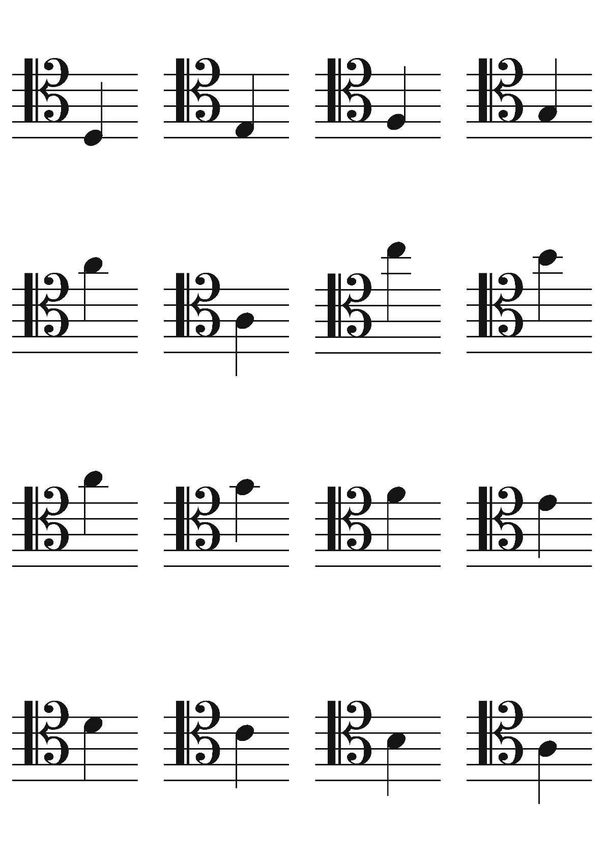 Alto And Tenor Clef Flashcards
