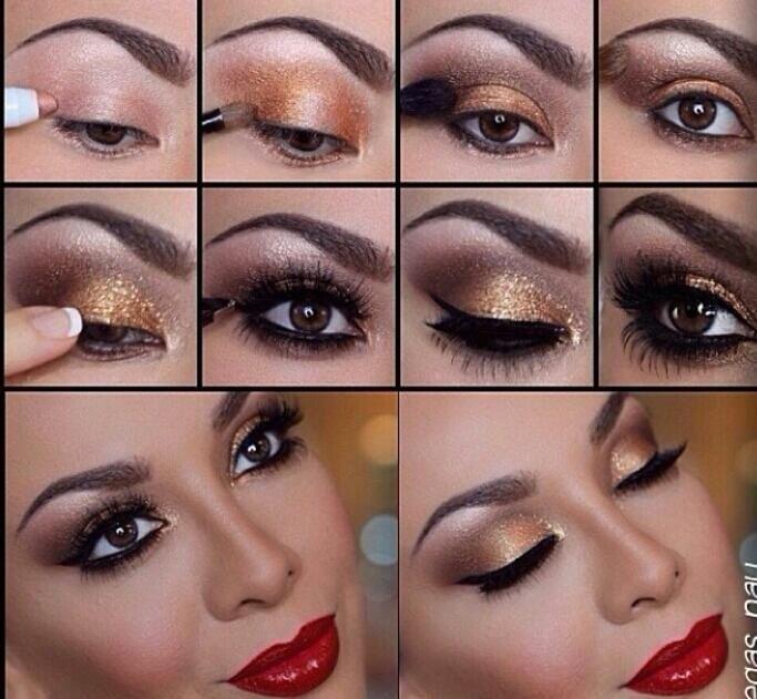 Smokey Gold Eye Makeup Tutorial Makeupview