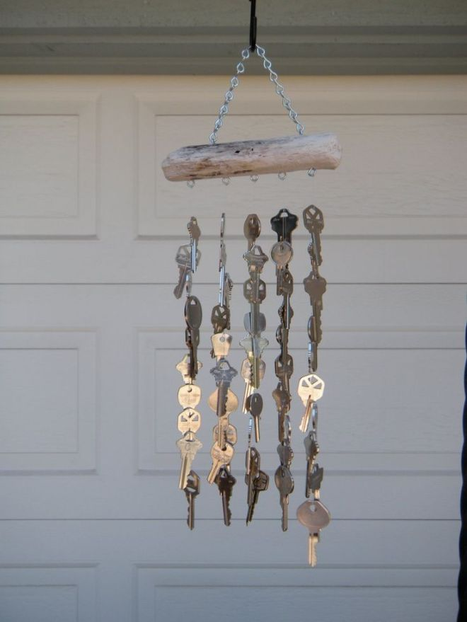 Homemade wind chime from junk diy wind chimes from junk