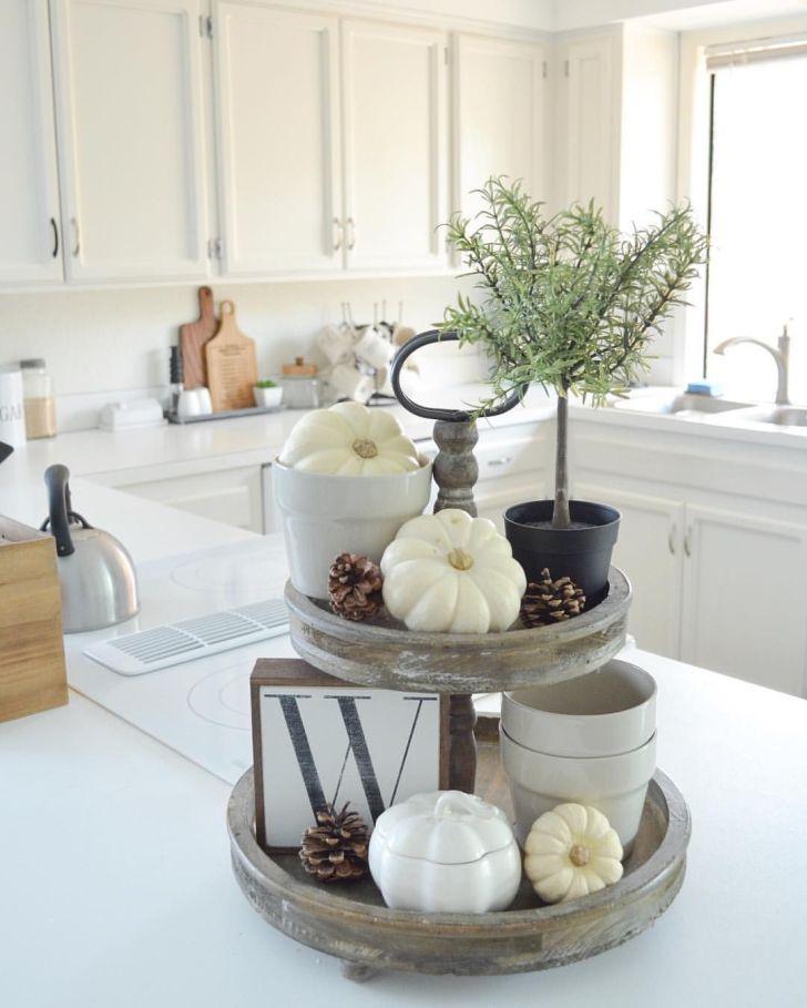 Homestead Fall Decor Kitchen Wood Tray