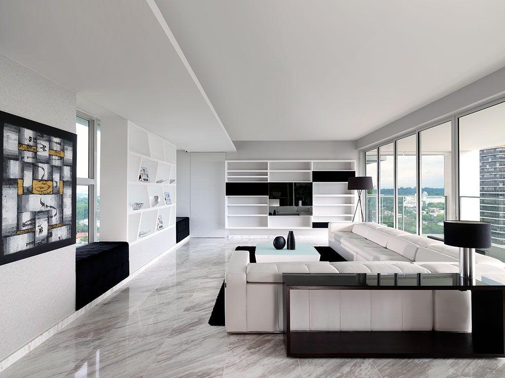 ultra modern sky condo interior design black white schemes on beautiful modern black white living room inspired id=93930
