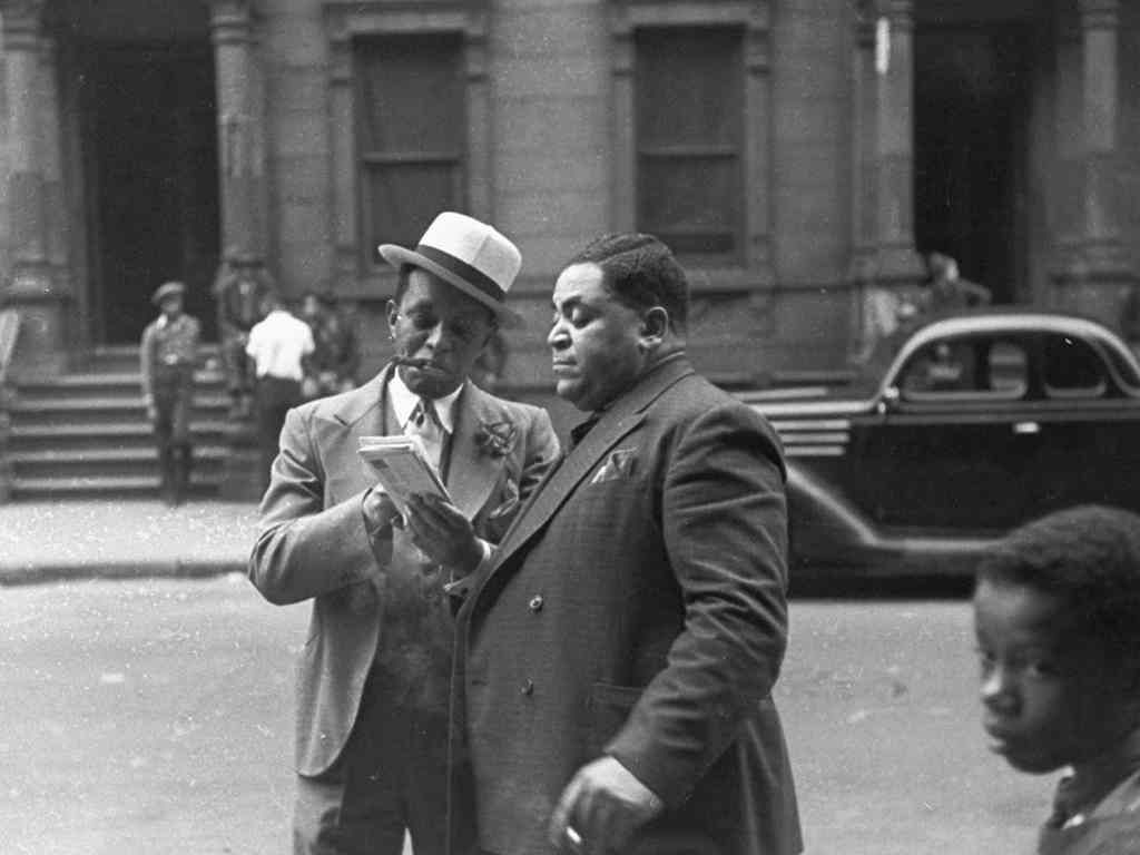 Jazz Musicians Willie The Lion Smith And Fats Waller Look At The Mail In Their Hometown Of