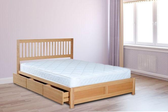 Double Wooden Storage Bed Mattress
