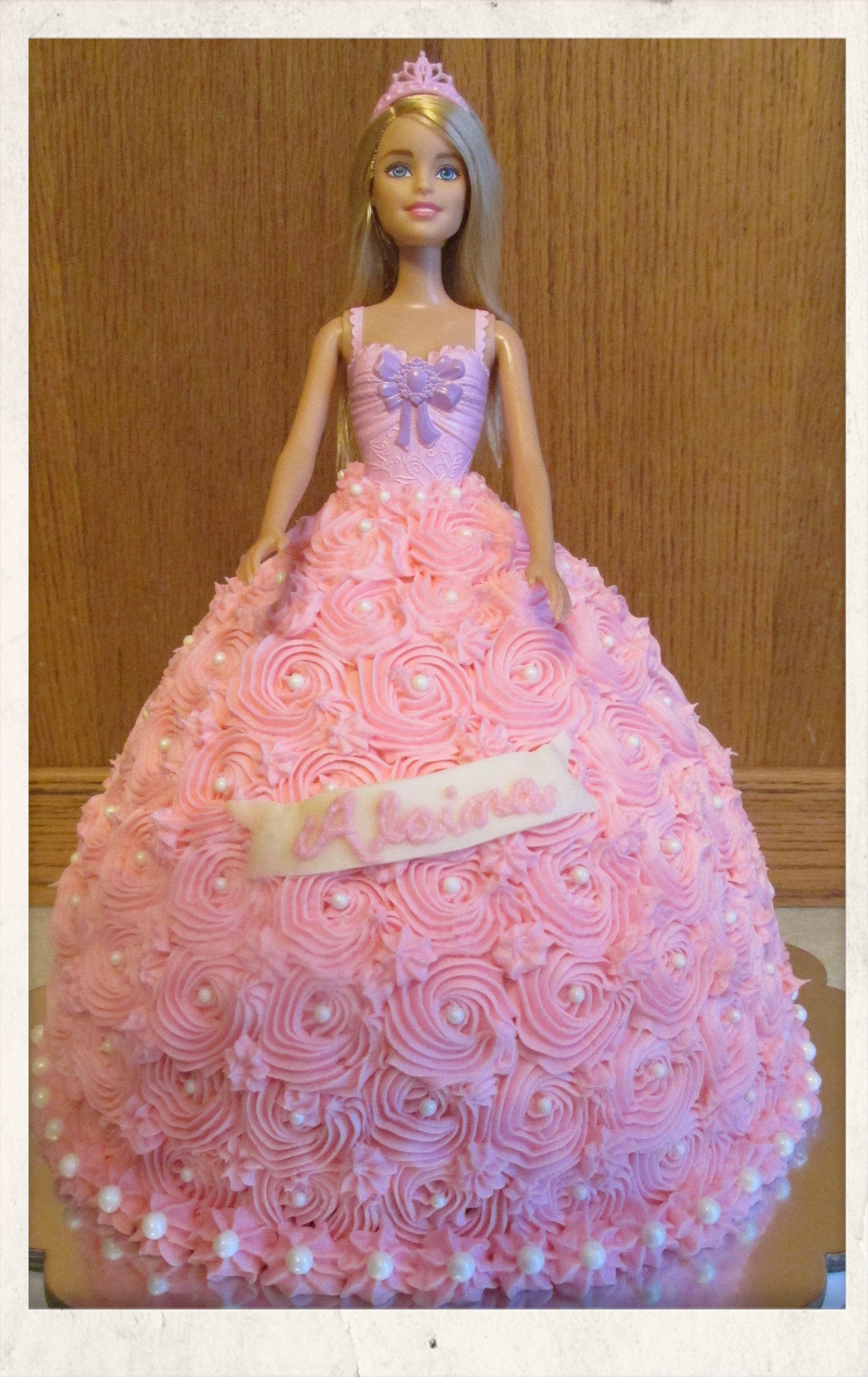 Barbie Doll Princess Cake All Buttercream