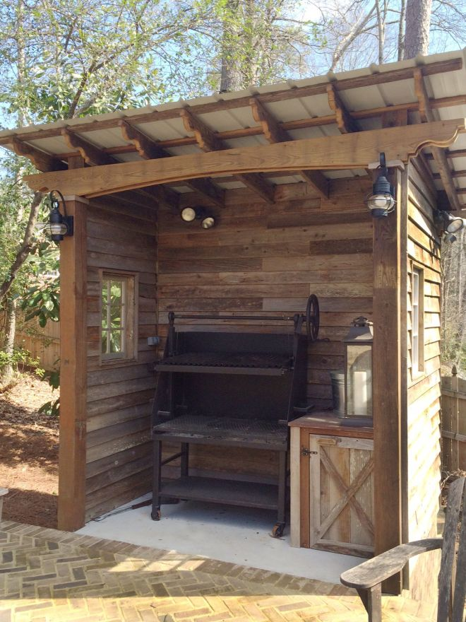 Barbecue shed designed and built by atlanta decking bbq