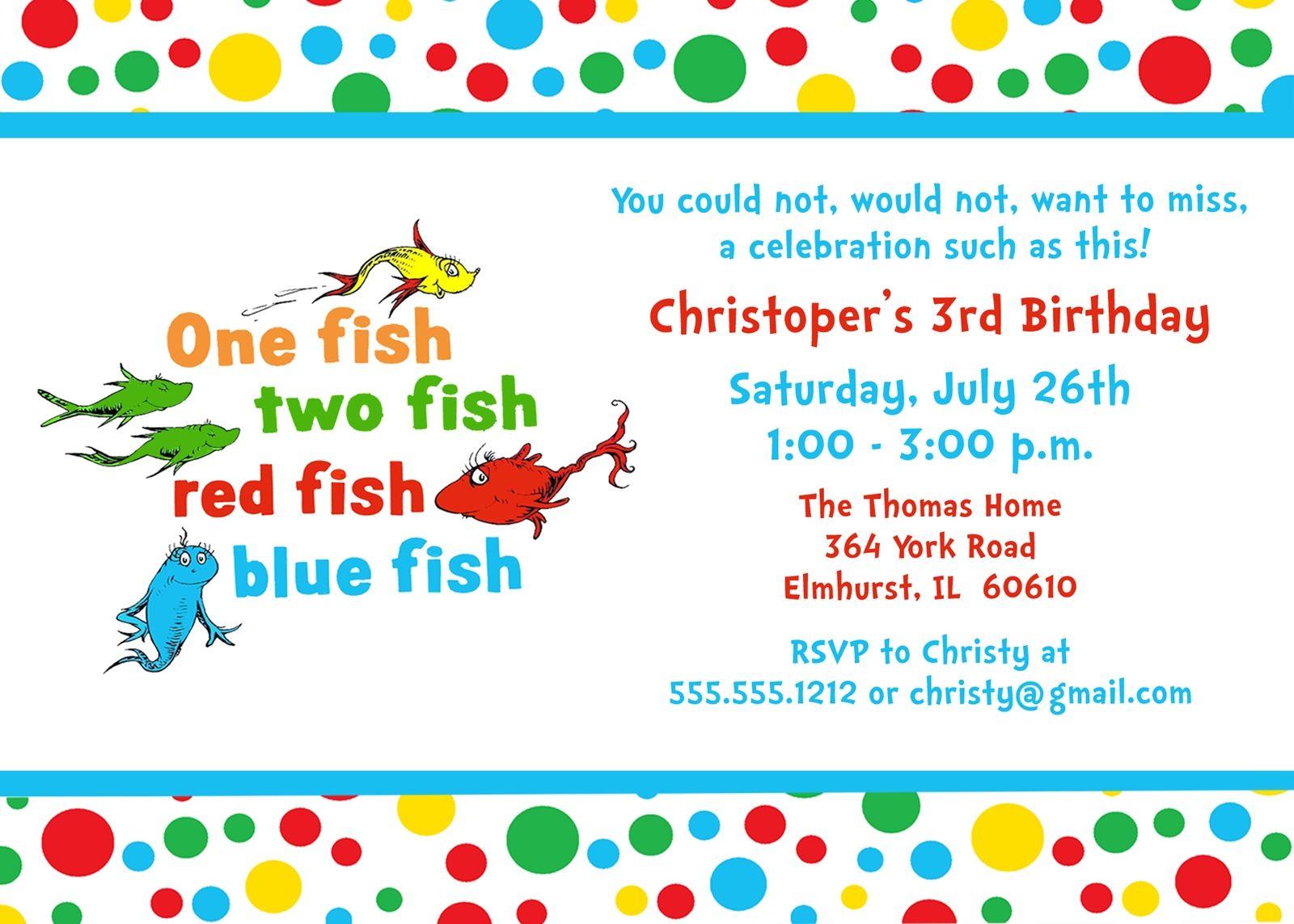 Dr Seuss Fish Template Printable