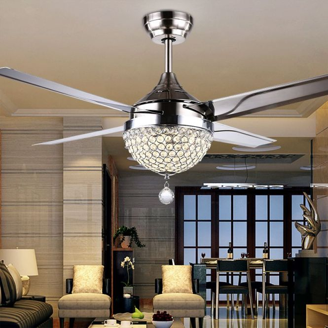 Fan Light Quality Brands Directly From China Lamp Keychain Suppliers Gale Crystal Led Ceiling Restaurant Bedroom Modern