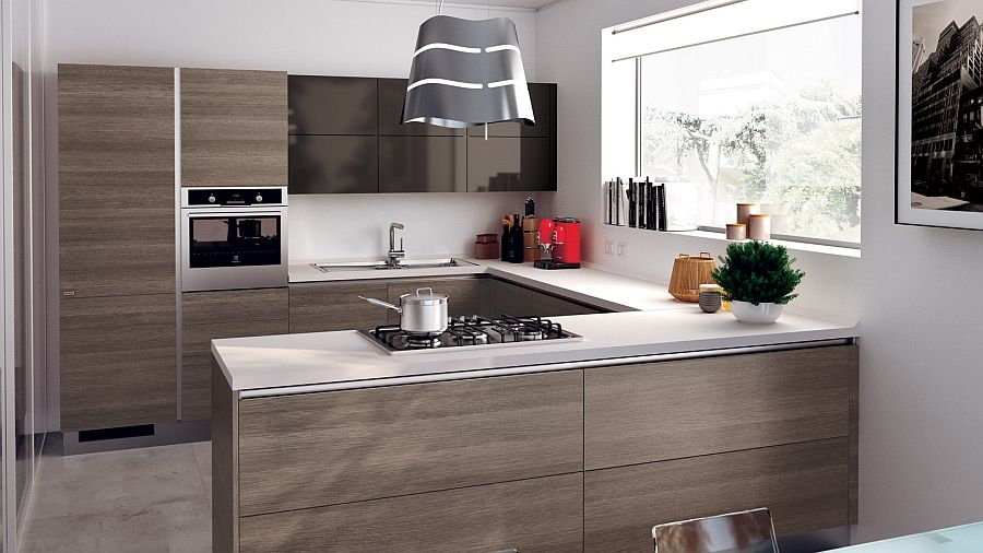 functional and smart small modern kitchen decoist home ideas pinterest small modern on kitchen ideas modern id=66627