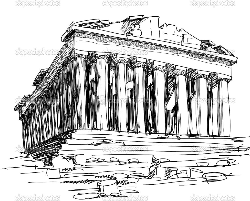 Parthenon Colouring Pages