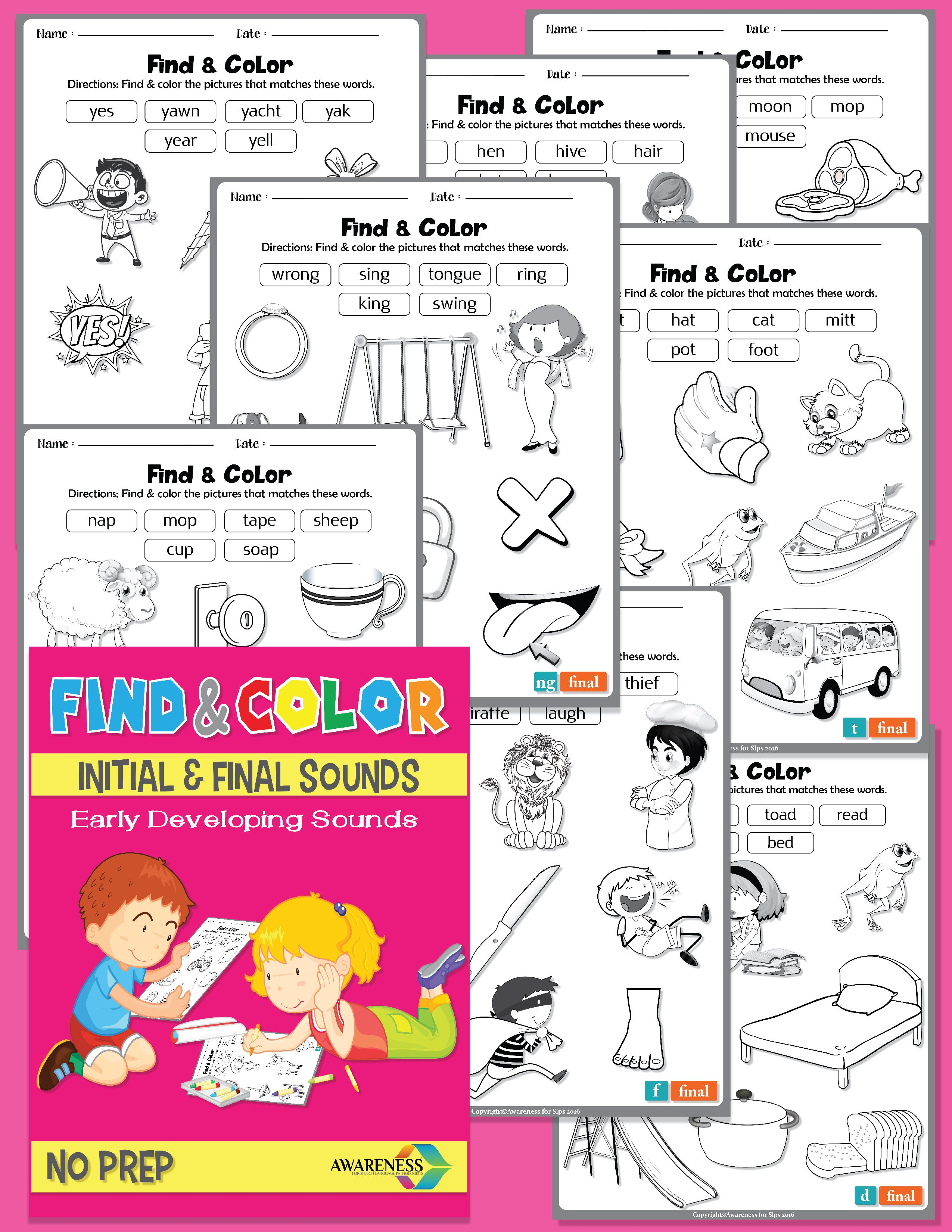 Find Amp Color Phonological Process Early Developing