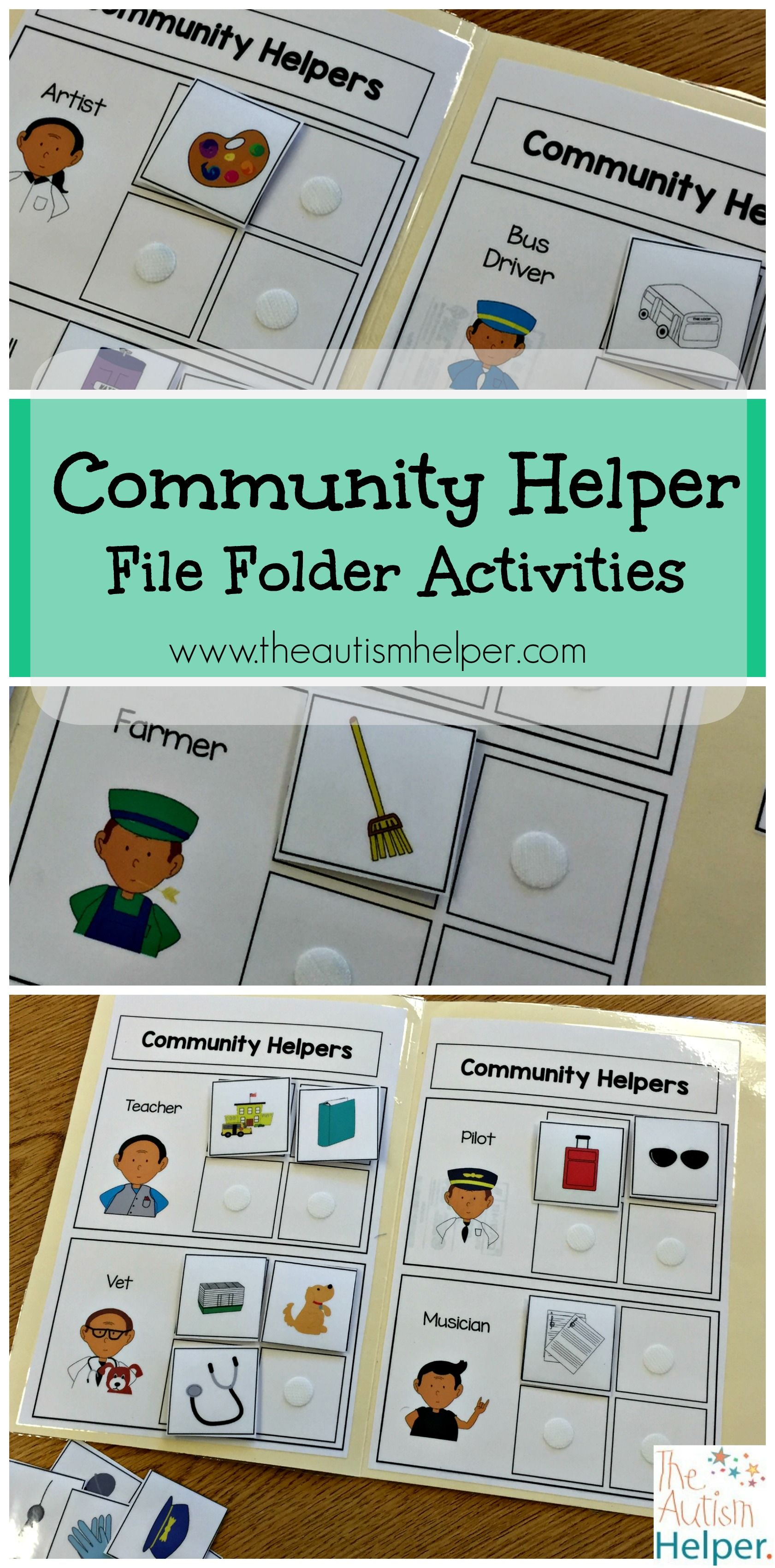Community Helper File Folder Activities