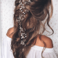 Pulled back loose waves lovely long wedding hairstyle we this