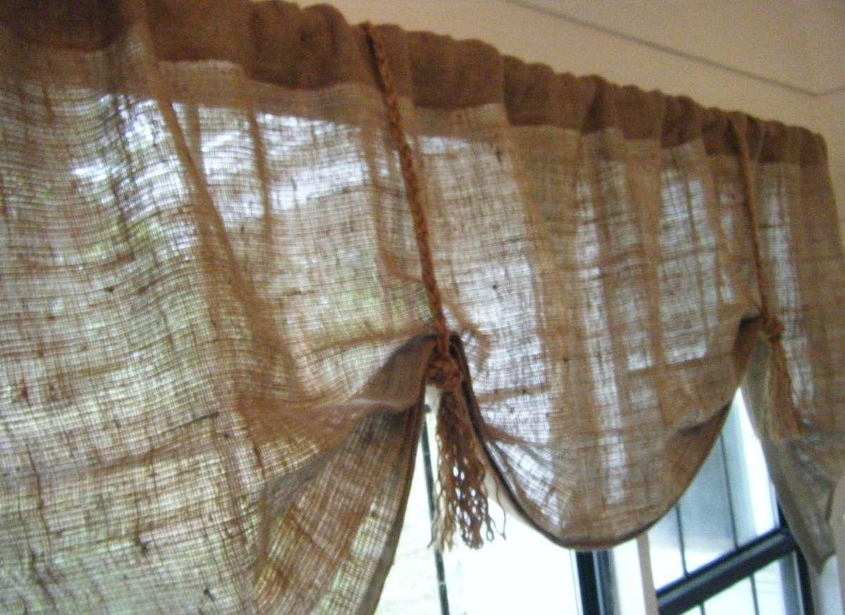 Burlap Valance Window Treatments
