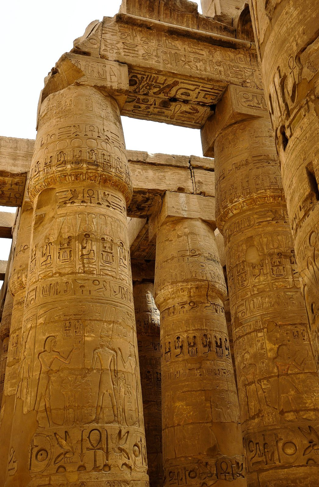 Section Of The Ancient Egyptian Luxor Temple Bc