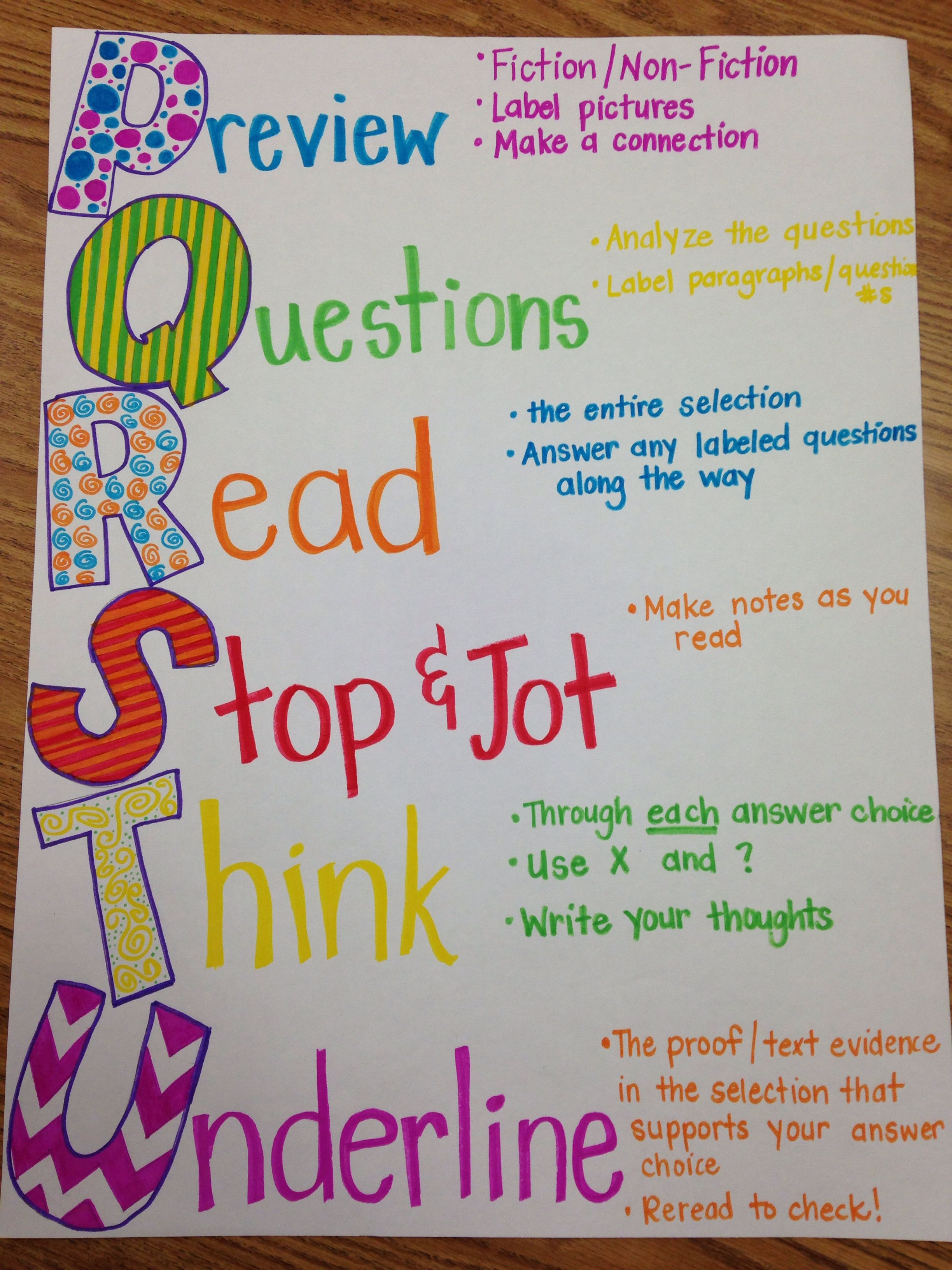 Staar Reading Question And Sentence Stems Free