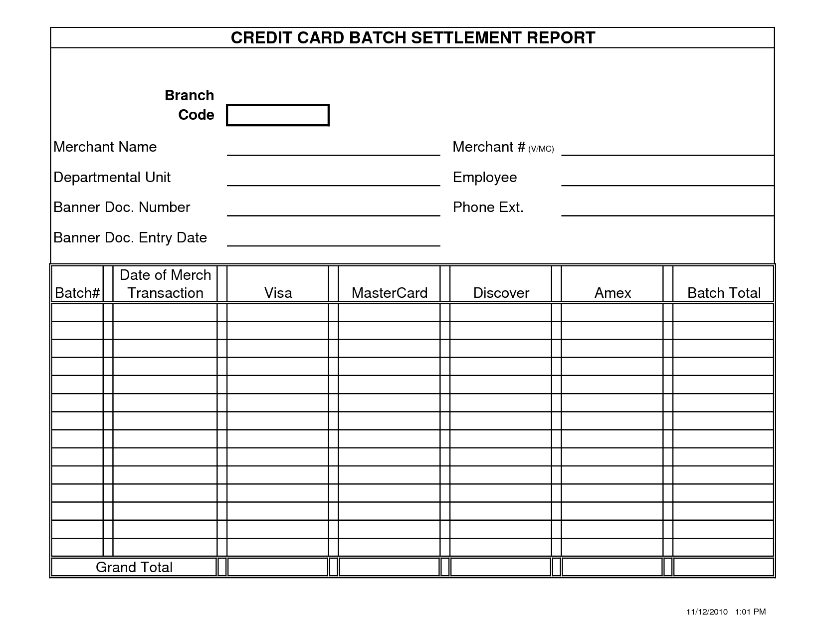 Printable Blank Report Cards